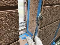 5-28シール工事のプライマー下塗り塗布作業