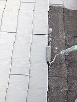 8-28屋根断熱ガイナ上塗り1回目塗装 (1)