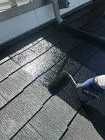 8-31大屋根シリコンベスト上塗り1回目塗装(1)