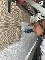 8-30外壁色変え部ラジカルコート上塗り2回目塗装 (4)