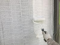 6-14外壁ソフトサーフ中塗り2回目塗布