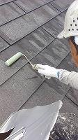7-12屋根ミラクシーラーEPO下塗り1回目塗布