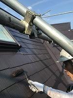 7-31屋根上塗りファインシリコンベスト塗布2回目 (2)