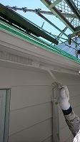 6-13外壁4Fフッ素付帯部上塗り塗装1回目6
