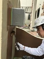 5-14北面塀上塗りダイナミックトップ塗布1回目1