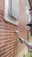 8-23外壁UVプロテクトクリヤー1回目塗装 (6)
