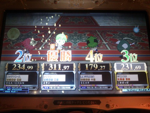 0726賢猫杯1回戦結果