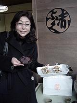 赤福餅と焼き蛤で一服