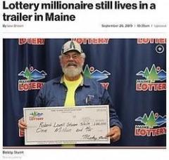 宝くじで1億円超を当てた男性 仕事を辞めずトレーラーハウスに住み続ける 米