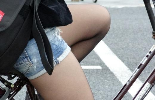 自転車 盗撮 パンチラ エロ