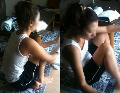 姉の室内盗撮エロ画像