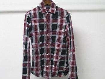 ラウンジチェックガードシャツ