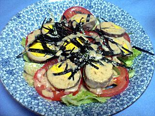 燻製卵のサラダ