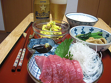 新米+中トロ定食
