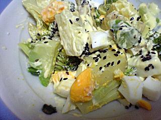 温野菜の黒ゴママヨネーズ和え