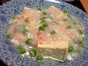 蟹あんかけ豆腐