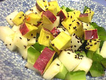りんごさつま芋きゅうりサラダ