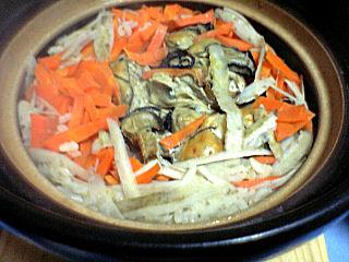 牡蠣炊き込みご飯