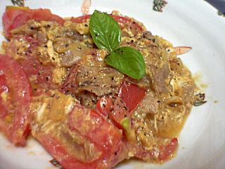 豚肉とトマトの卵炒め