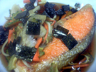 鮭甘酢ひたし