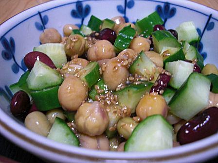 MIX豆ときゅうりのサラダ