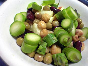 MIXビーンズとアスパラガスのサラダ