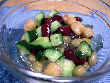 MIX豆と寒天のサラダ
