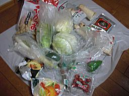 冷蔵庫の野菜たち