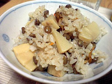レンズ豆炊き込みご飯