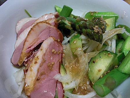 鴨燻製のサラダ