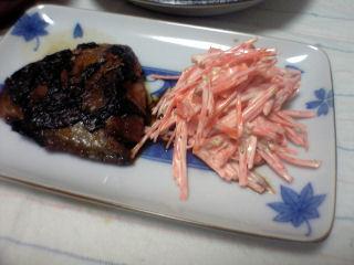 焼鯖と人参サラダ