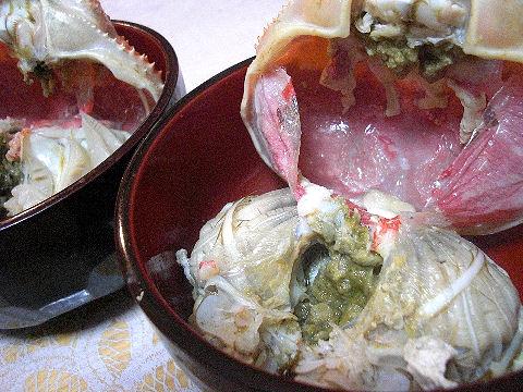 蟹味噌たっぷり