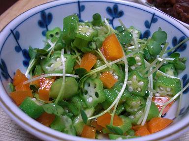 売れ残り野菜のサラダ