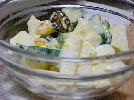 りんごたまご干しぶどうのサラダ
