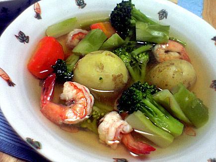 春野菜と海老のポトフ