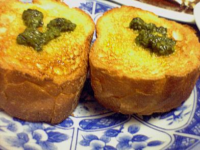 バジルソースのブルスケッタ(チーズ無し)