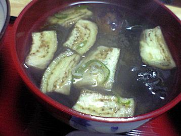 炒めなすの味噌汁