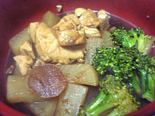 大根とびんちょうマグロの甘辛煮