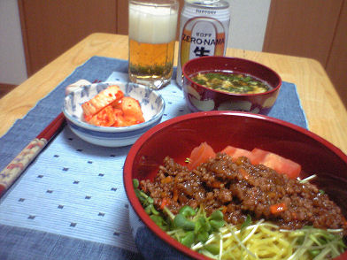 ジャージャー麺定食