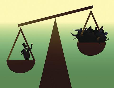 世界の富裕層1%の持つ富は、他の99%の持つ富の合計を上回る