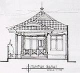バリ式建築設計図(正面)