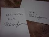 鷲沢さんサイン