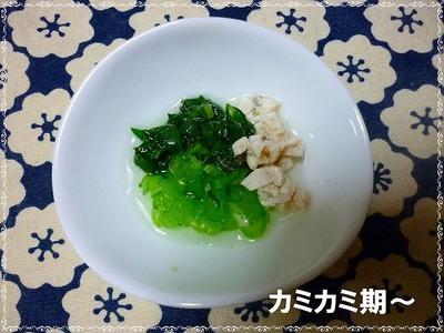 小松菜と鶏もも肉の煮物カミカミ