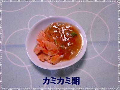 鮭のトマトかけ