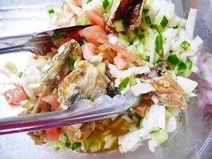 2012年2月11日夕食-アジのマリネ7