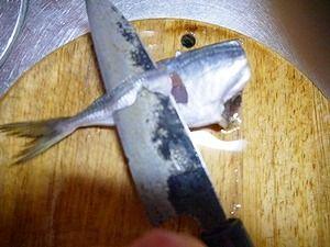 2012年2月11日夕食-アジのマリネ3