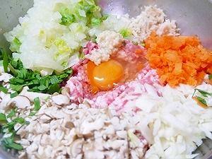 2012年2月23日夕食-レンコン餃子1