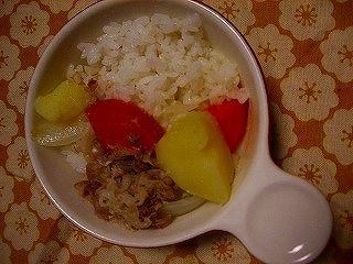 395日目2豆乳野菜煮込みカレー風味
