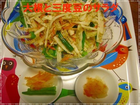 大根と三度豆のサラダ