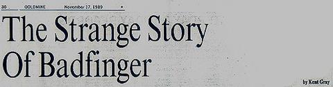 The Strange Story of Badfinger Kent Gray